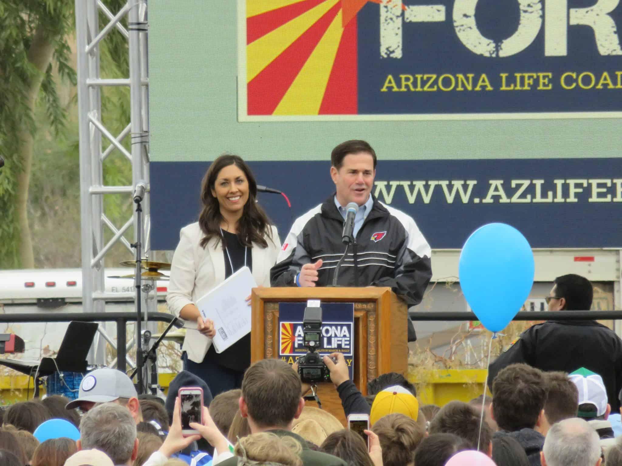Elisa-Gov-Ducey 2018 Arizona for Life March & Rally - Thank You